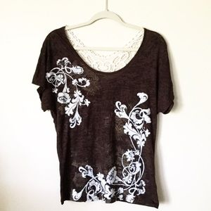 Maurice's Brown Tee, Lovely & Soft. Size M